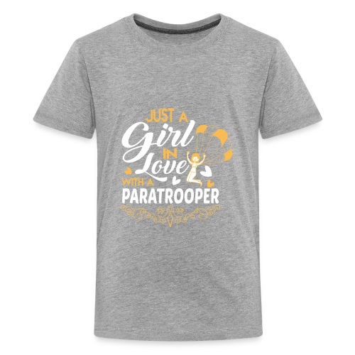 Just a GIRL in love with a PARATROOPER - Kids' Premium T-Shirt