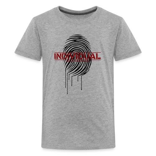 Zebra Fingerprint black - Kids' Premium T-Shirt