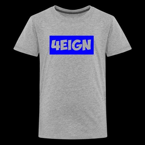 4eign logo BLUE - Kids' Premium T-Shirt