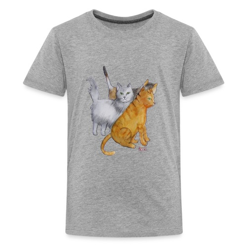 Paris Street Cats - Kids' Premium T-Shirt
