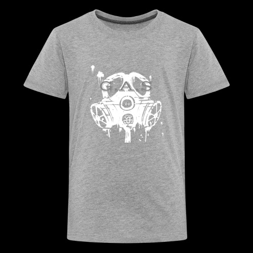 Big White Gas Mask 1 - Kids' Premium T-Shirt