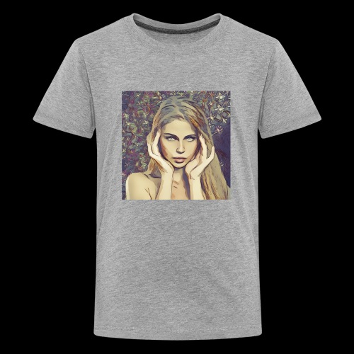 headache , beautiful woman, dream, focus - Kids' Premium T-Shirt
