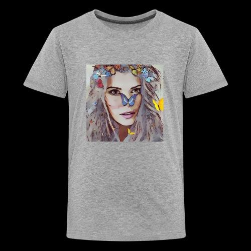 fairy , beautiful woman, butterfly magic design - Kids' Premium T-Shirt