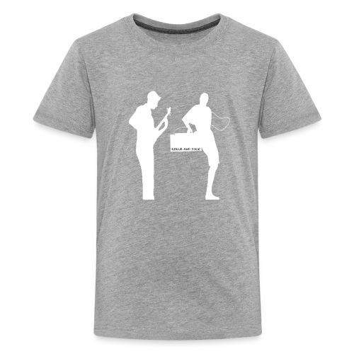 Rollz and Dice Logo WHITE - Kids' Premium T-Shirt