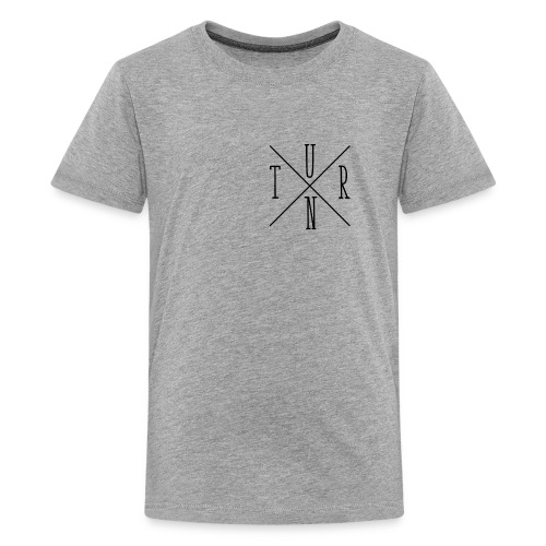 Turn Clothing Co logo black small cross marketplac - Kids' Premium T-Shirt