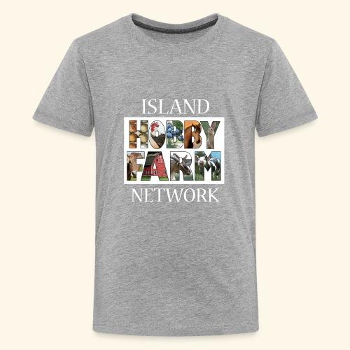 Island Hobby Farm White Logo - Kids' Premium T-Shirt