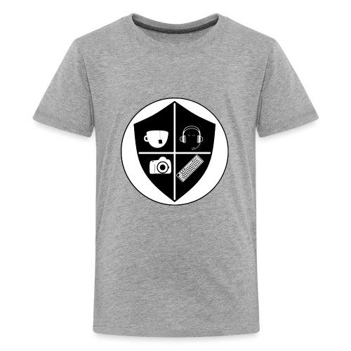 Punk Who Drinks Tea Crest - Kids' Premium T-Shirt