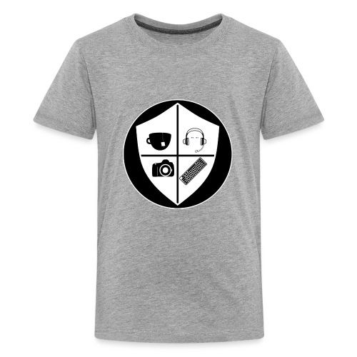 Punk Who Drinks Tea Crest (Inverted) - Kids' Premium T-Shirt