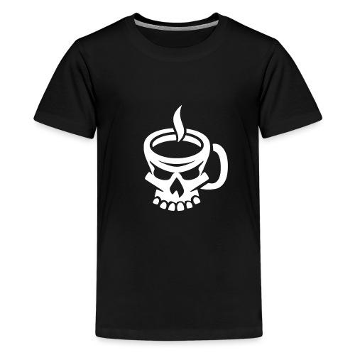 Caffeinated Coffee Skull - Kids' Premium T-Shirt