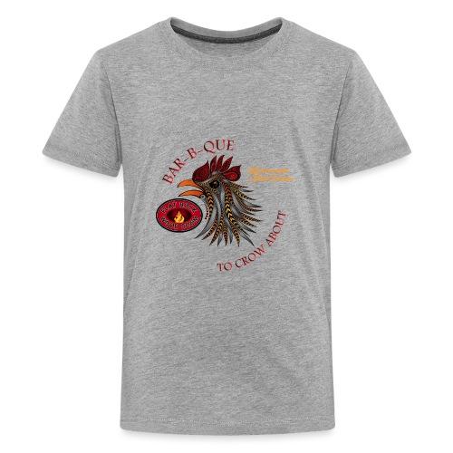 bbqcrowsmallerfont 3 png - Kids' Premium T-Shirt