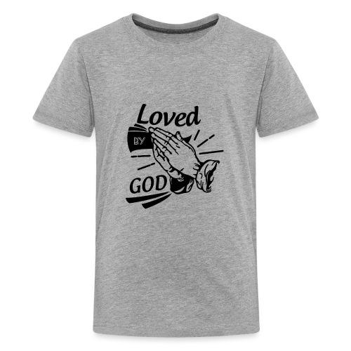 Loved By God (Black Letters) - Kids' Premium T-Shirt