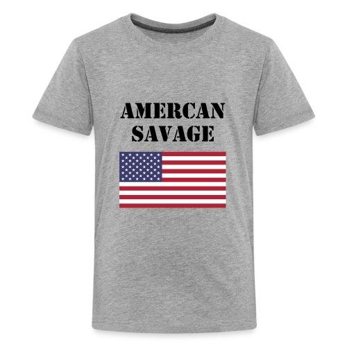 American Savage Shirt - Kids' Premium T-Shirt