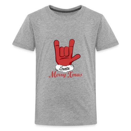 Santa Claus hand rock n roll - Kids' Premium T-Shirt