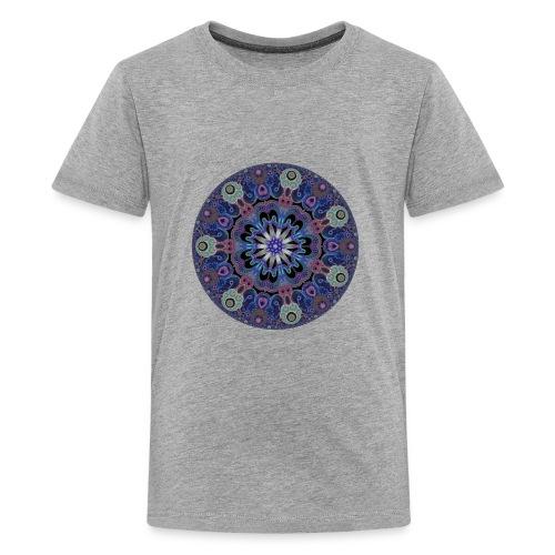purple fractal pattern - Kids' Premium T-Shirt