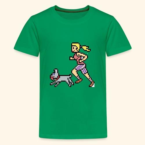 RunWithPixel - Kids' Premium T-Shirt