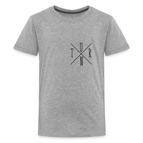 Turn Clothing Co logo black small cross marketplac - Kids' Premium T-Shirt