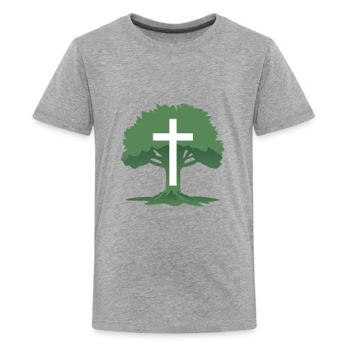 Christian Cross with Tree of Life - Kids' Premium T-Shirt