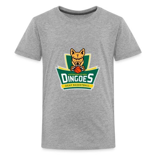 Australian U21 Men Dingoes - Deaf Basketball - Kids' Premium T-Shirt