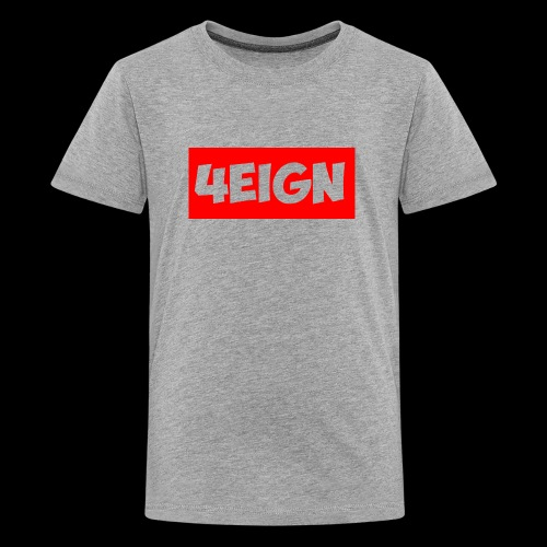 4eign Logo RED - Kids' Premium T-Shirt