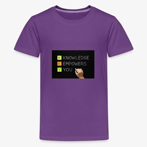knowledge is power - Kids' Premium T-Shirt