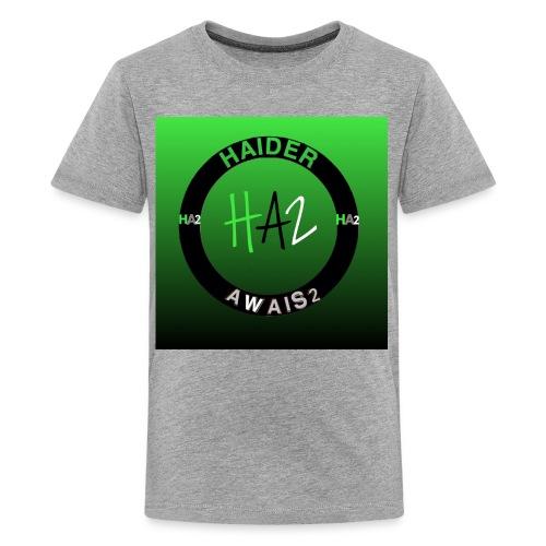 Haider Awais Logo Green - Kids' Premium T-Shirt