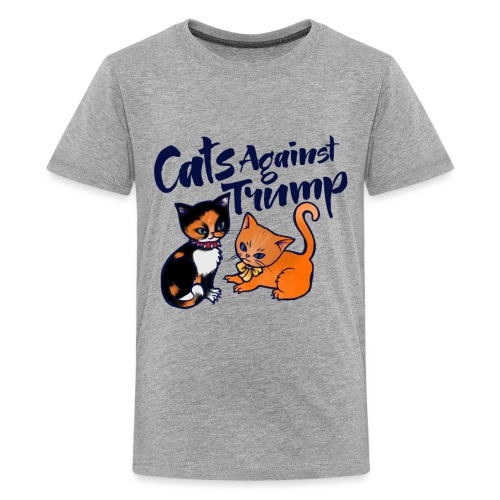 cats against trump - Kids' Premium T-Shirt