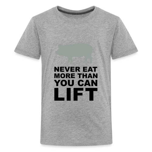 Never eat more than you can lift 2c (++) - Kids' Premium T-Shirt