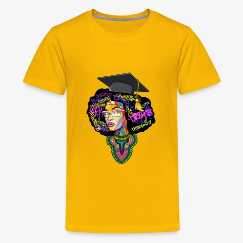 Black Educated Queen School - Kids' Premium T-Shirt