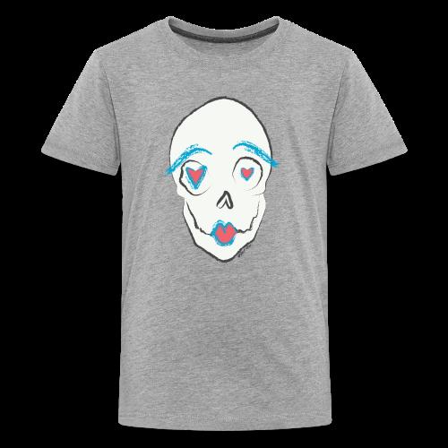Kissing skull - Kids' Premium T-Shirt