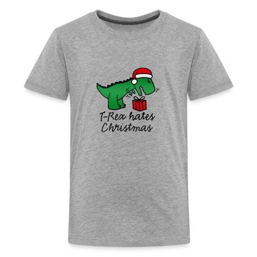 T Rex Hates Christmas - Kids' Premium T-Shirt