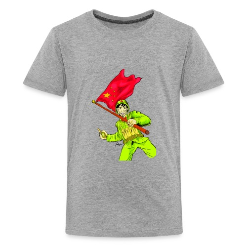 Chinese Soldier With Grenade - Kids' Premium T-Shirt