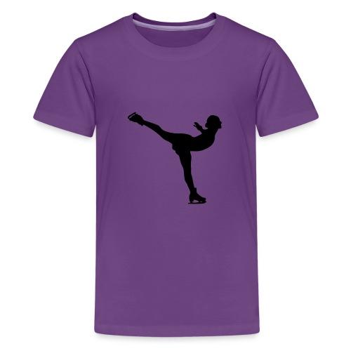 Ice Skating Woman Silhouette - Kids' Premium T-Shirt