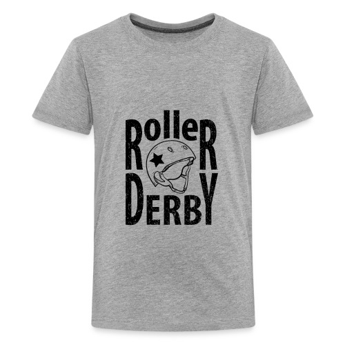 Roller derby helmet typography - Kids' Premium T-Shirt