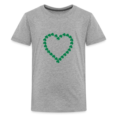 shamrock heart - Kids' Premium T-Shirt