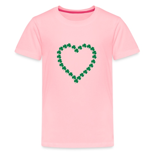 shamrock heart - Kids' Premium T-Shirt