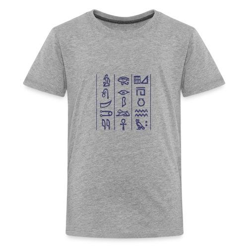 egypt hieroglyph dark - Kids' Premium T-Shirt