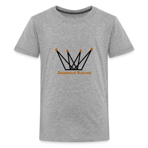Ingenious Builder crown logo - Kids' Premium T-Shirt