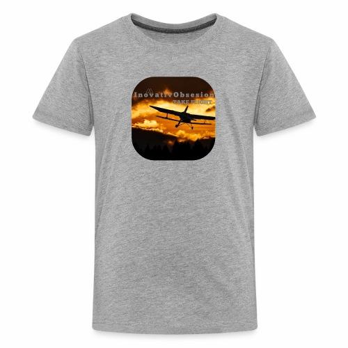 "InovativObsesion ""TAKE FLIGHT"" apparel - Kids' Premium T-Shirt"