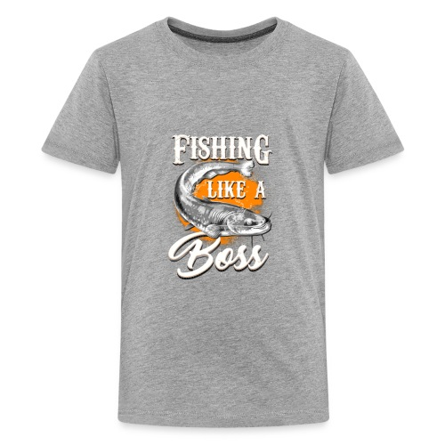 Fishing like a BOSS - Kids' Premium T-Shirt