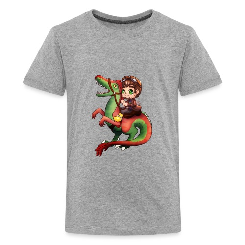 Poet Raptor Riding - Kids' Premium T-Shirt