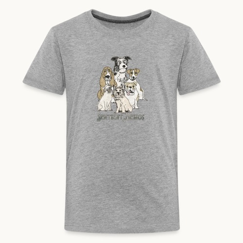 DOGS-SENTIENT BEINGS-white text-Carolyn Sandstrom - Kids' Premium T-Shirt