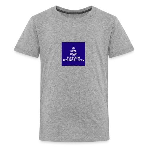 KeepCalm blue and white edition - Kids' Premium T-Shirt