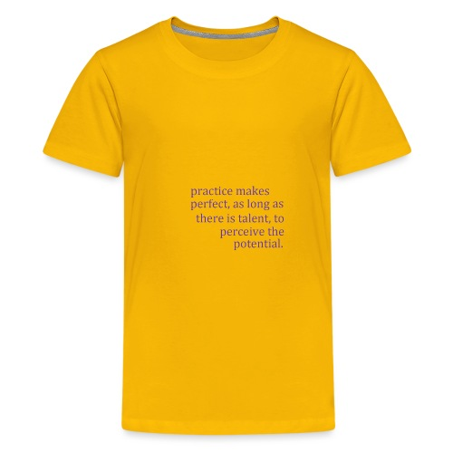 practice makes - Kids' Premium T-Shirt