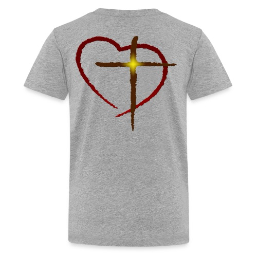 Heart and Cross - Kids' Premium T-Shirt