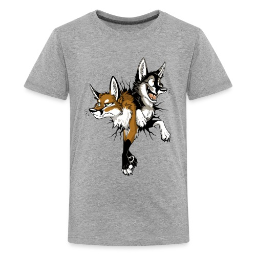 STUCK Foxes (double-sided) - Kids' Premium T-Shirt