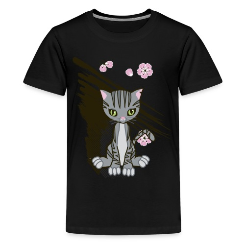 Cute Kitten Ladies T-shirt - Kids' Premium T-Shirt