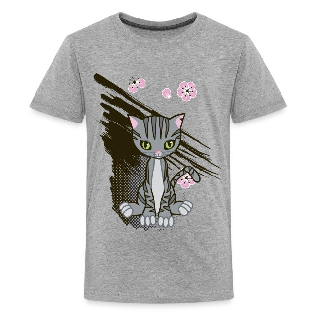 Cute Kitten Ladies T-shirt
