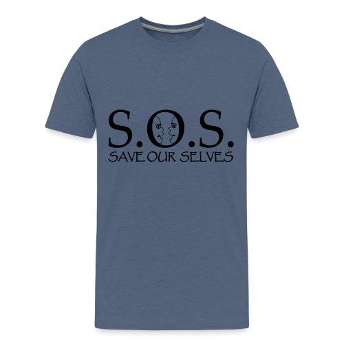 SOS Black on Black - Kids' Premium T-Shirt