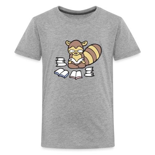 Reading Raccoon - Kids' Premium T-Shirt