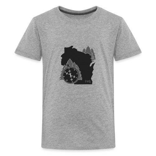 Black/White WI Logo - Kids' Premium T-Shirt